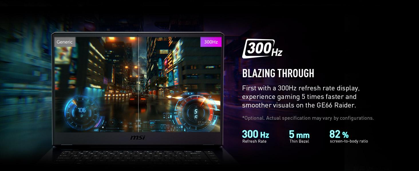 300 hz refresh rate display