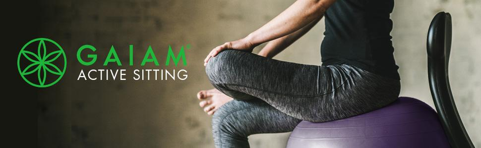 Amazon Com Gaiam Adjustable Balance Ball Stool Stability