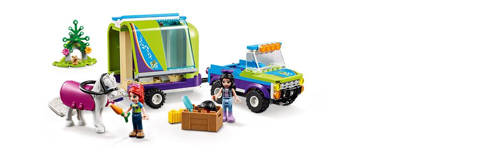 216 Pieces Lego 41371 LEGO Friends Mia/'s Horse Trailer 41371 Building Kit