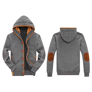 Wantdo Men's Fleece Button Hoodie Sweatshirts Jacket at Amazon ...