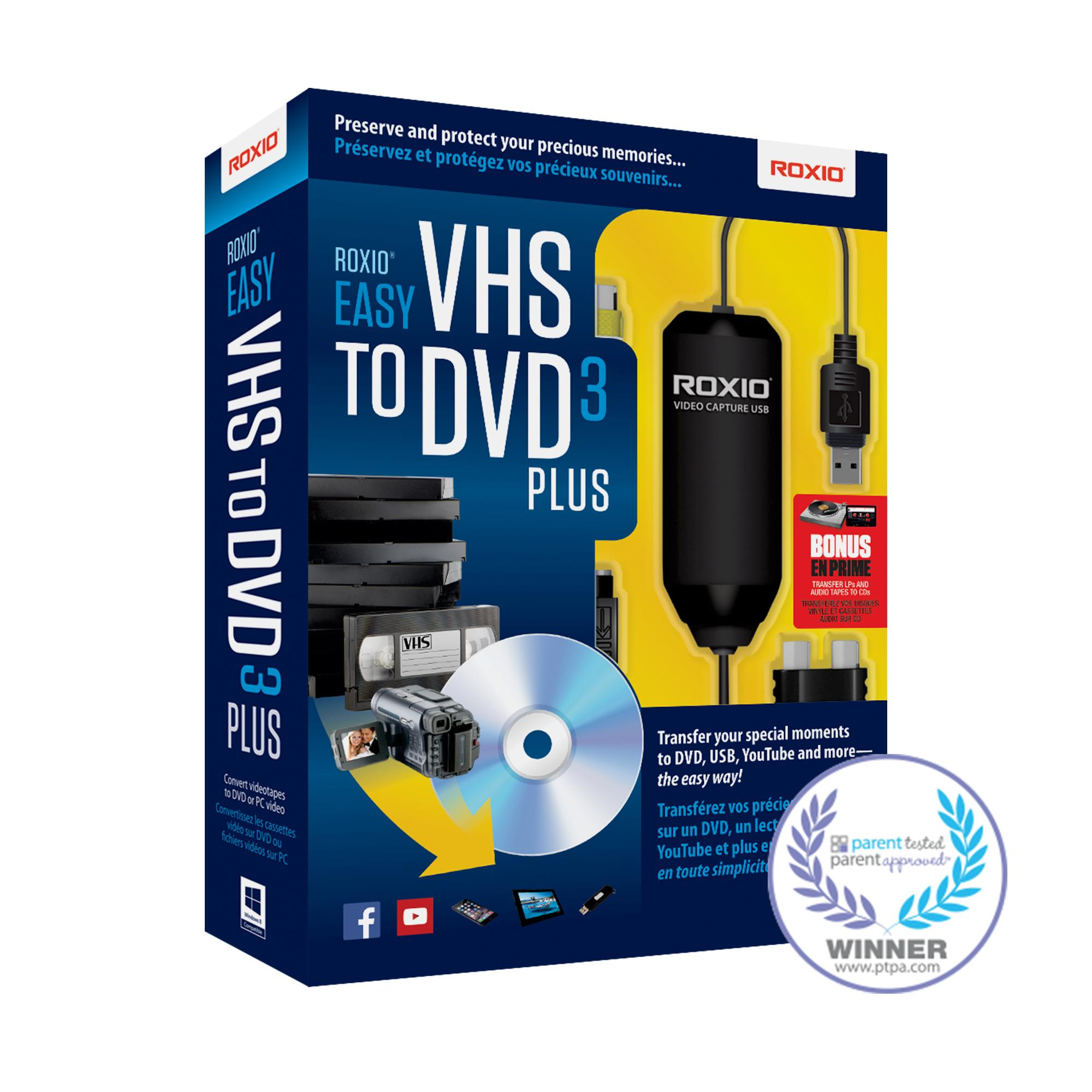 roxio easy vhs to dvd 3 plus video converter for pc. Black Bedroom Furniture Sets. Home Design Ideas