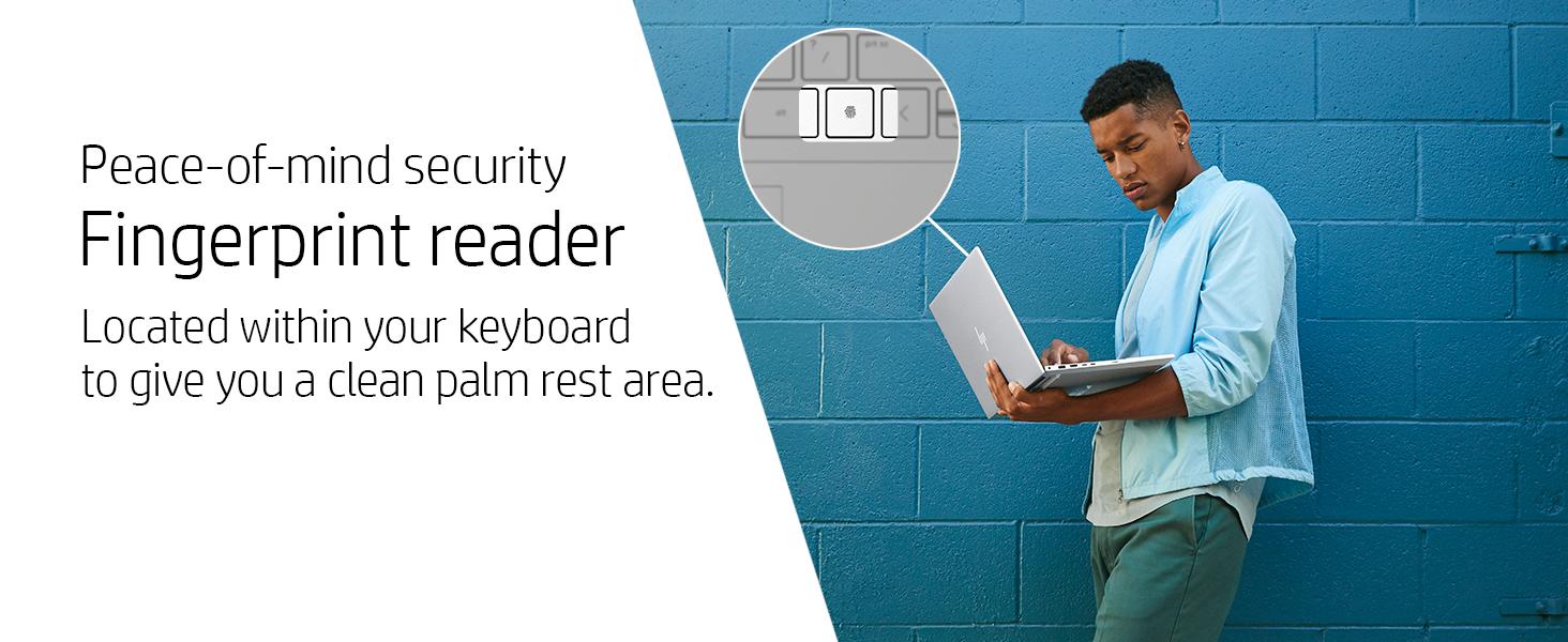 log in login one touch palm rest area fingerprint reader finger