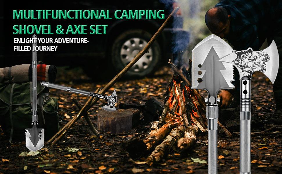 Camping Shovel & Axe Set