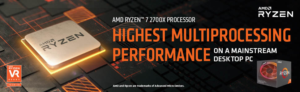 AMD Ryzen 7 2700X Processor with Wraith Prism LED Cooler 8 AM4 YD270XBGAFBOX