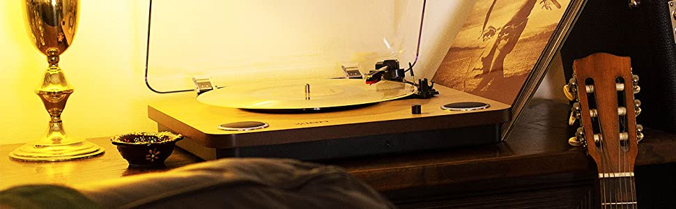 ION Audio Max LP - Tocadiscos de vinilo de 3 Velocidades