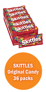 Skittles Candy Single Size Candy Bags