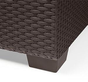 keter salta sofa features a beautiful faux resin rattan wicker design