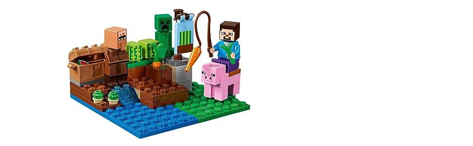 Minecraft Building Blocks Kit LEGO The Melon Farm Villager 69 Pieces Ages 6-14