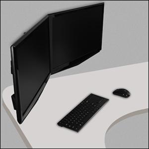 ARCTIC - Z2 Pro - Brazo doble para sujetar monitores en escritorios