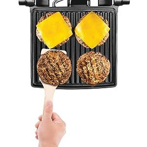 grill sandwich maker, lay flat panini press,contact grill