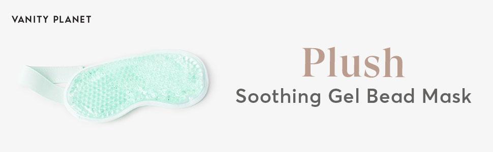 Plush soothing gel bead mask, soothing gel bead mask, gel bead mask, mask