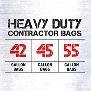 Heavy Duty Sizes