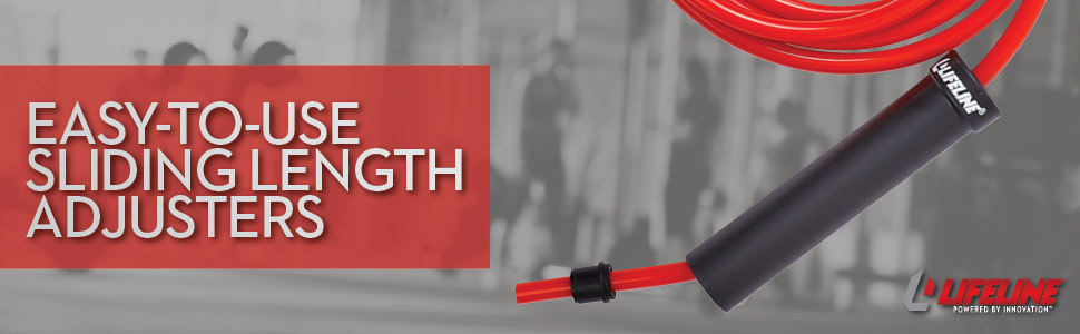 1.25 LBS Lifeline Weighted Speed Rope Combining Resistance and Cardio Training