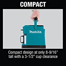compact design tall height cup clearance travel