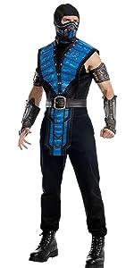 Amazon mortal kombat sub zero adult costume blue one size scorpion sub zero raiden scorpion sub zero solutioingenieria Image collections