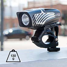 lumina micro compact front bike light weighs only 130 grams
