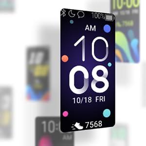 Huawei; band; 4; wijzerbladen; design; armband; smart; fitness; horloge; tracker; individueel