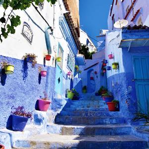 見渡す限りブルーの世界 おとぎ話のような青い町シャウエン
