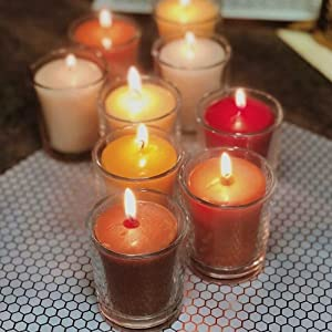 Clean burning candle 20 hour votive chemical free non toxic