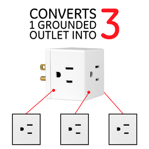 3 outlet outlets adapter plug wall tap