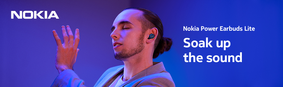 Nokia Power Earbuds Lite with up to 35 hours of play time