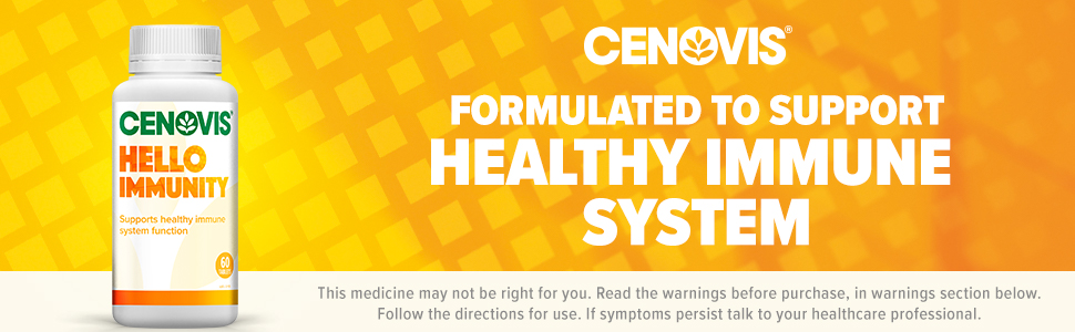 Cenovis Hello Immunity, formulated to support healthy immune system