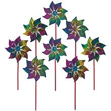 pinwheels;pinwheel;pin wheel;hand spinner;mylar pinwheel;party favors;rainbow decor;rainbow spinner