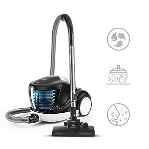 Polti Forzaspira Lecologico Aqua Allergy Natural Care Aspirador sin Bolsa con Filtro de Agua, 6 accesorios, 1 L, Azul: Amazon.es: Hogar