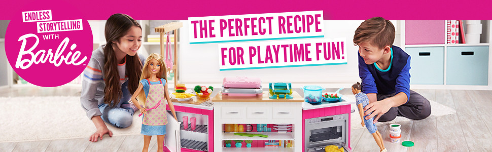Barbie Frh73 Careers Ultimate Kitchen With Doll Playdough Cooking