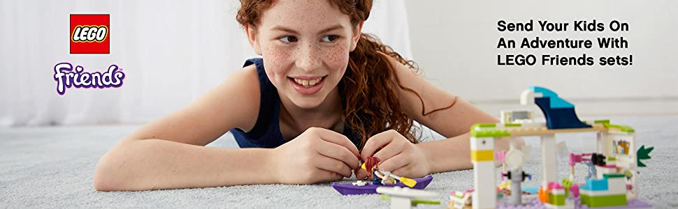 LEGO, building, Interactive play, Friends, Heartlake, seal, Mia, Girls, outdoors