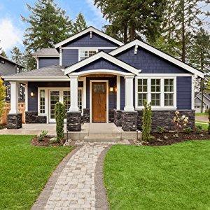 Amazon Com Glidden Exterior Paint Primer Gray Dover Gray One Coat Satin 5 Gallons Home Improvement
