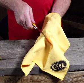 case cleaning cloth, cloth, cleaning knives, cleaning your knife