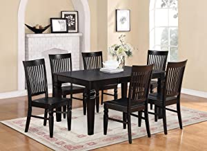 Dining set  dining tables chairs table and Amazon com East West Furniture WEST7 WHI W 7 Piece Table