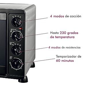 Bastilipo Milan - Horno De Sobremesa Multifunción - 2200W - Negro ...