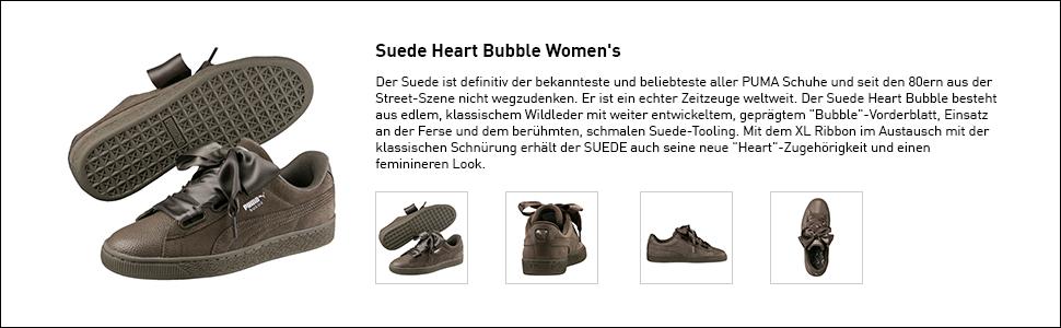 PUMA Damen Suede Heart Bubble WN's Sneaker: