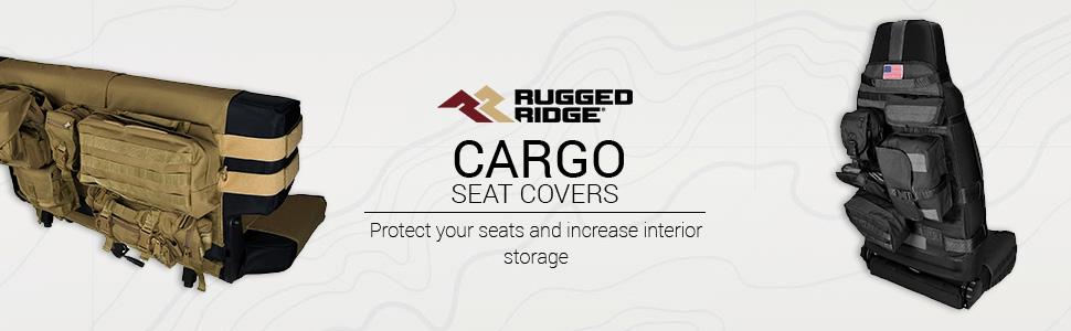 Rugged Ridge 13236.04 Front Tan Cargo Seat Cover