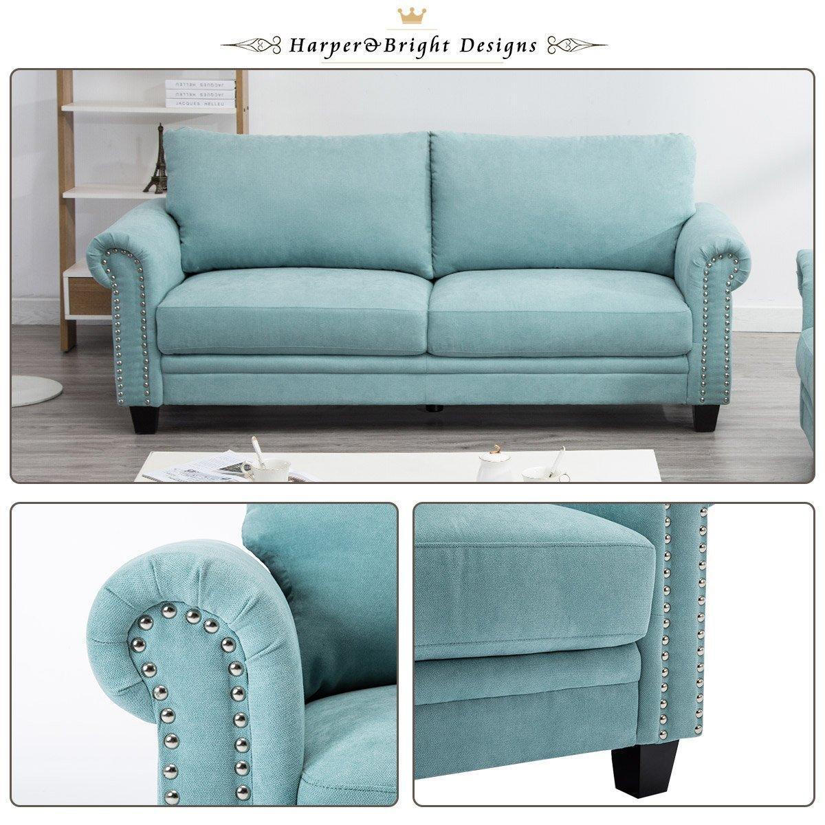 Amazon Com Harper Amp Bright Designs Living Room Sofa Set
