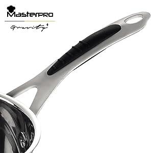 MasterPro Sarten 28x6 cm Aluminio prensado Apta para inducción Gravity, 28 cm. diámetro