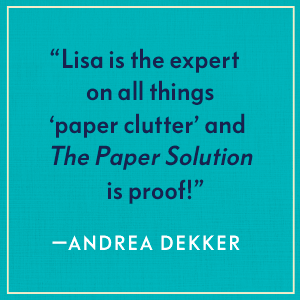 The Paper Solution, Lisa Woodruff