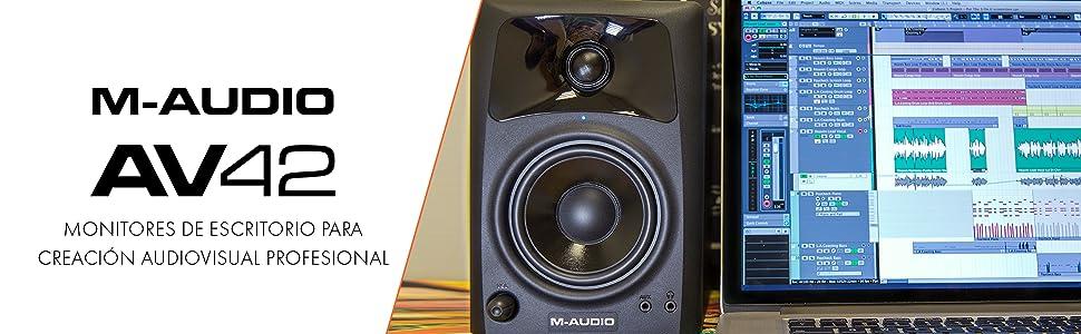 M-Audio AV42 - Par de monitores activos de referencia