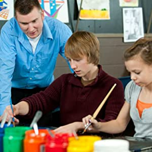 Art Teacher with Students