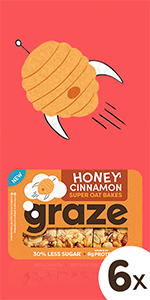 graze honey cinnamon super oat bakes havermoutrepen  6 x 57 gram