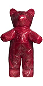 gummy bear costume, love bear, red teddy bear
