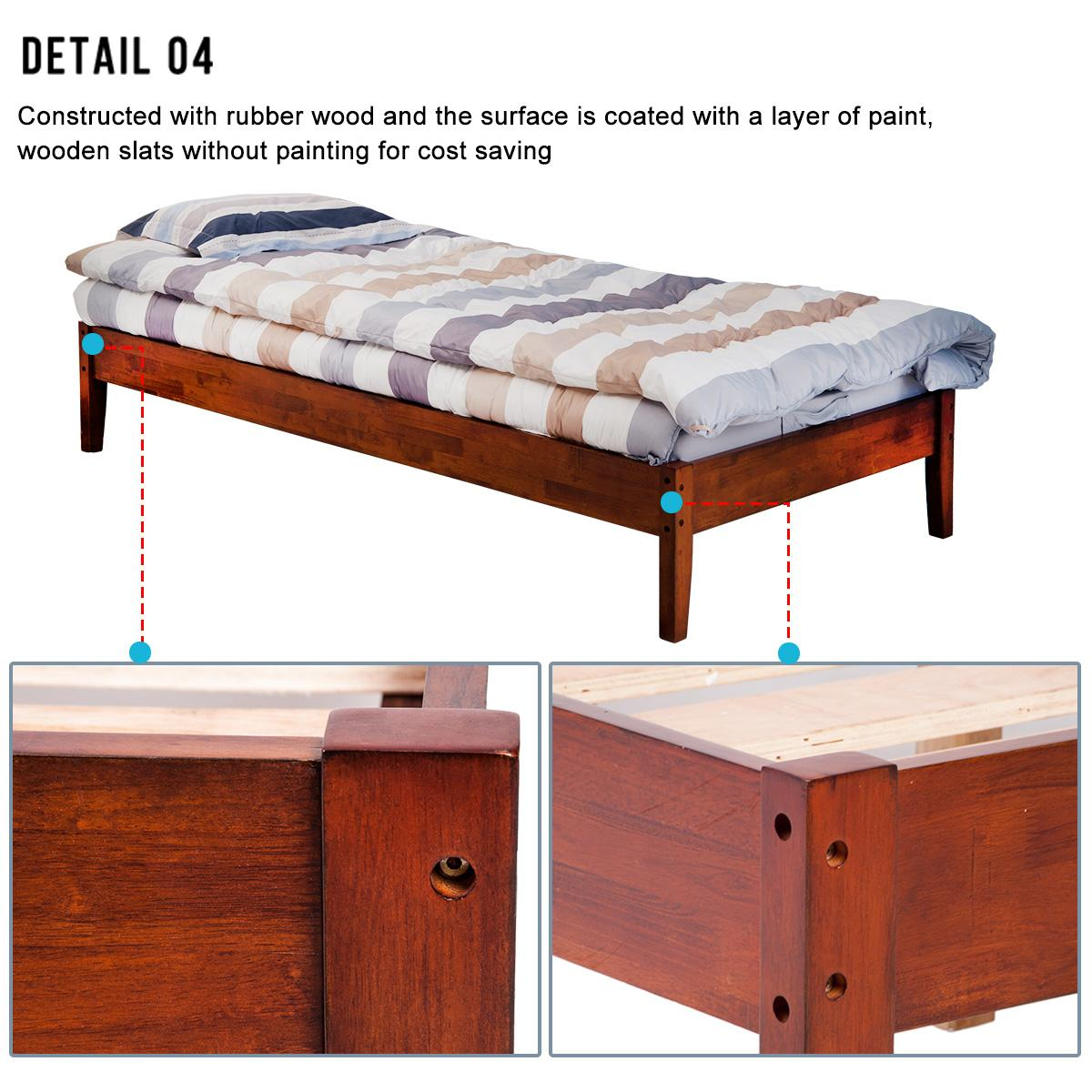 merax wood platform bed frame mattress foundation with wooden slat supports twin cherry. Black Bedroom Furniture Sets. Home Design Ideas