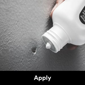 Apply spackling compound