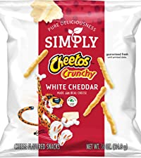 simply cheetos crunchy white cheddar cheese no artificial flavors healthy snack