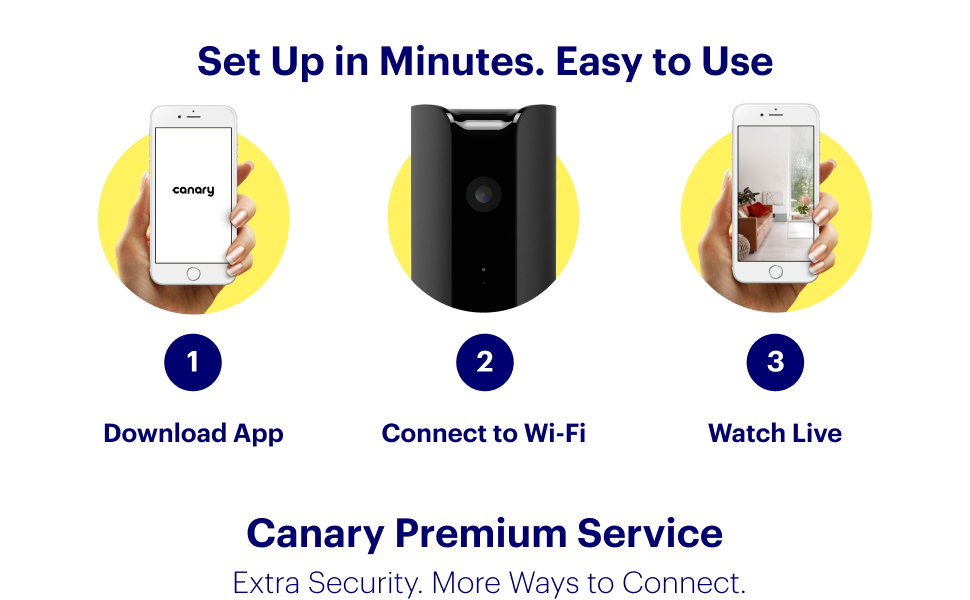 canary pro, easy setup, mobile, app, android, ios