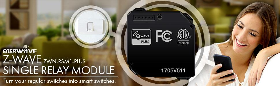 Enerwave ZWN-RSM1-PLUS Z-Wave Relay, Z-Wave Plus Micro