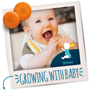 As your baby grows, they're newfound motor skills help them learn how to eat like a big kid!