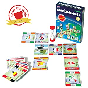 Mapominoes Europe travel game good toy guide recommended STEM toy Box & Cards